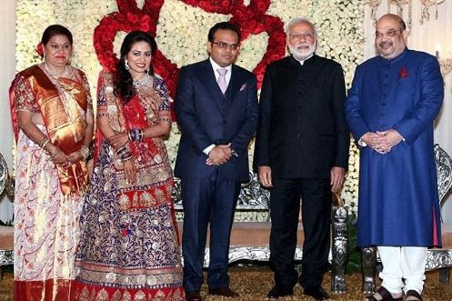 Amit Shah family with modi